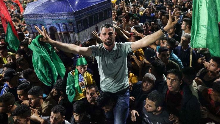 外媒:哈马斯领导人首次公开露面