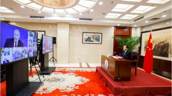 俄罗斯总统普京:俄中关系达到前所未有的高水平