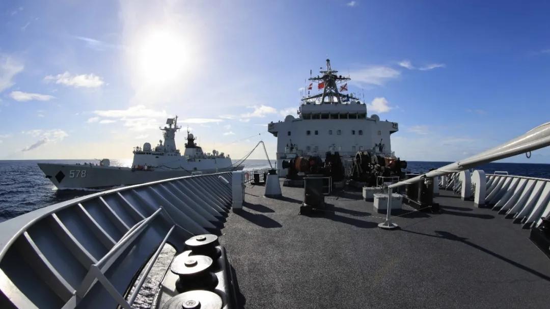 编队补给!看海军第38批护航编队协同演练