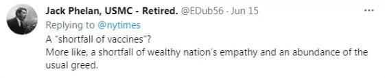 疫苗短缺?更像是富国同理心短缺以及贪婪的过剩。