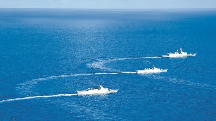 逐浪深蓝!看南部战区海军护卫舰编队实战训练