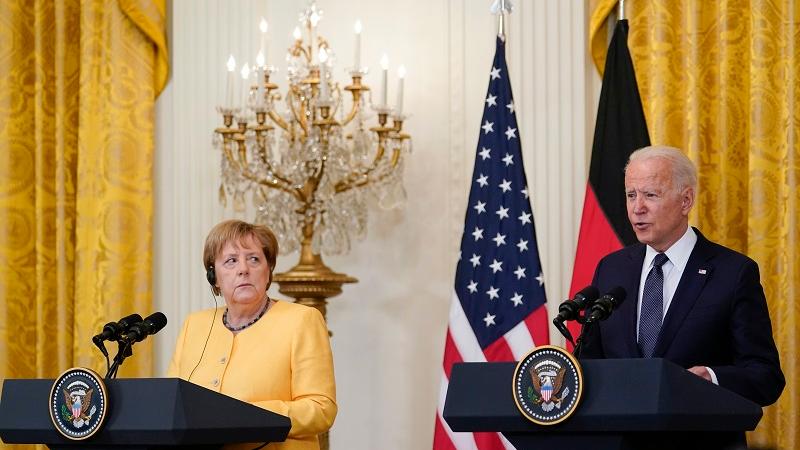 """外媒:拜登默克尔白宫会晤""""求同存异"""""""