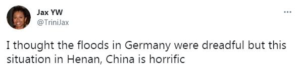 我以为德国洪灾已经非常严重了,但河南的情况看上去更糟