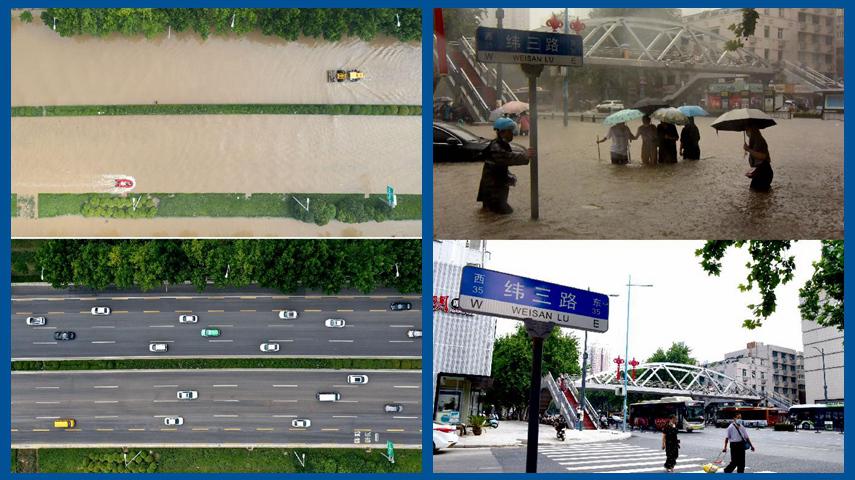 河南郑州:生活逐步恢复