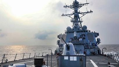 外媒关注:解放军对美舰穿台海发警告