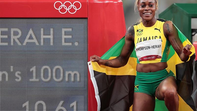 牙买加女飞人打破100米奥运纪录