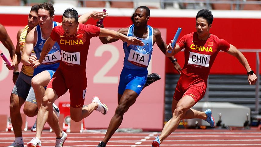 男子4x100米接力:中国队晋级决赛