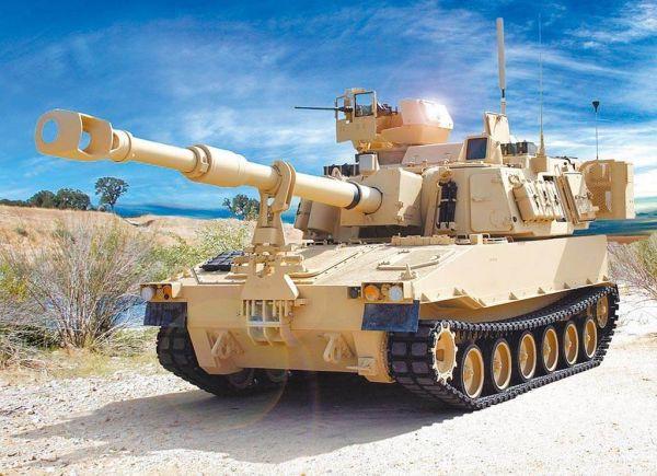 此次对台出售的M109A6自行榴弹炮。(台媒摘自美国陆军官网)