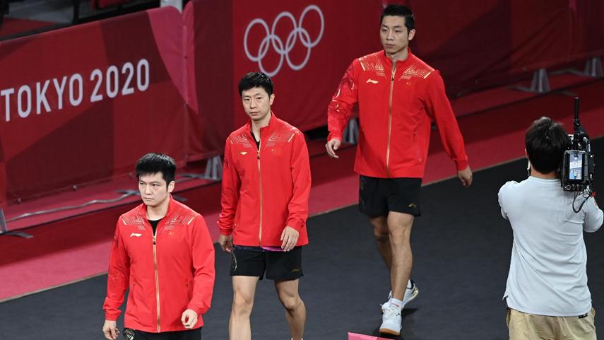 中国队获得东京奥运会乒乓球男子团体冠军