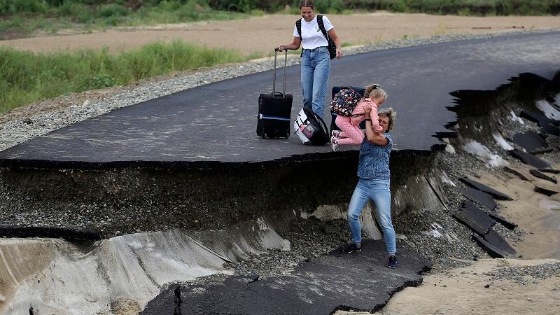 """外媒:俄遭遇""""前所未有""""自然灾害"""
