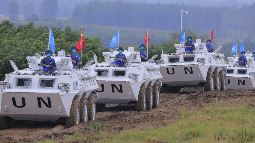"""""""共同命运-2021""""国际维和实兵演习正式开始"""