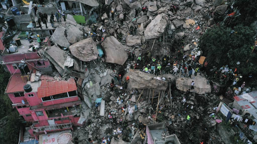墨西哥发生山体滑坡