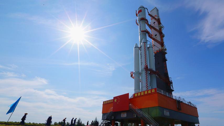 天舟三号货运飞船近日择机发射 船箭组合体垂直转运至发射区