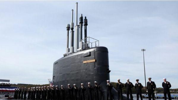 """美国弗吉尼亚级""""伊利诺伊""""号核潜艇(资料图片)"""