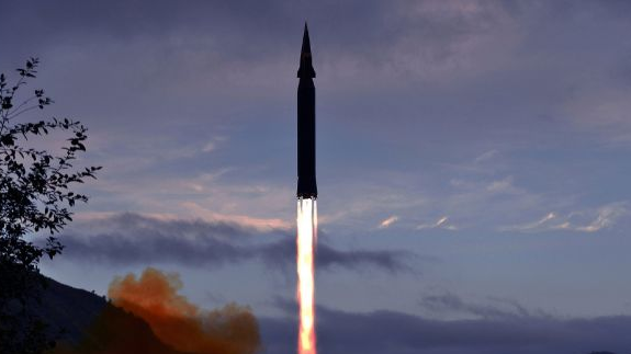 """""""火星-8""""导弹试射(朝中社)"""