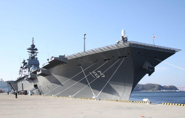 """台媒:日本""""出云""""号护卫舰进行F"""