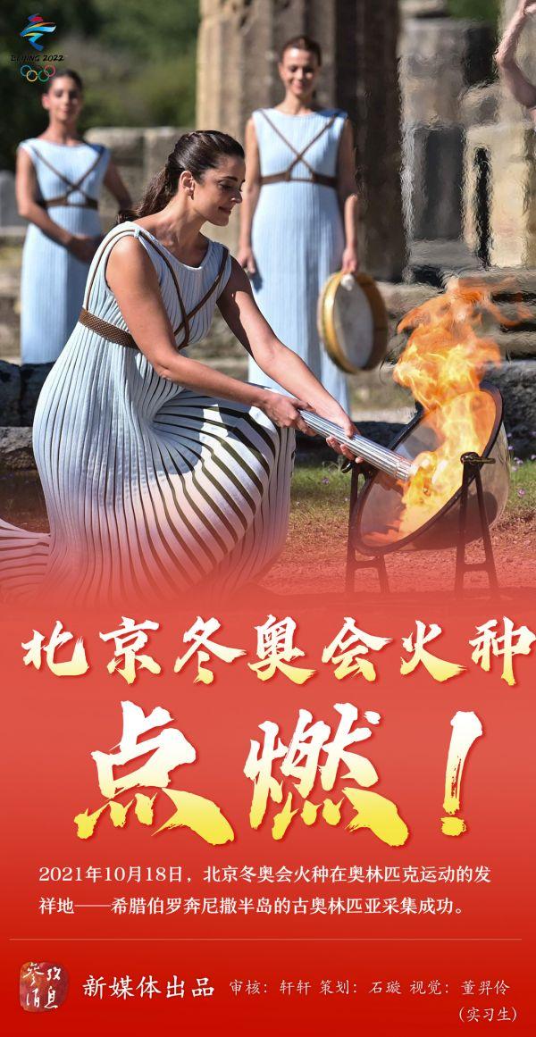 北京冬奥会火种点燃!